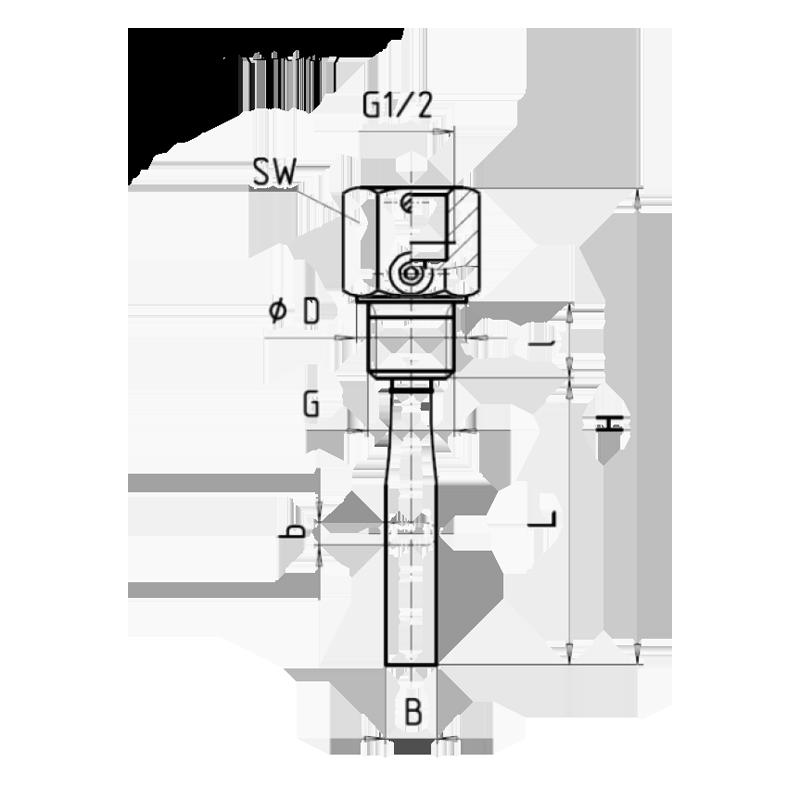 衛生級隔膜式壓力計 均質機專用型