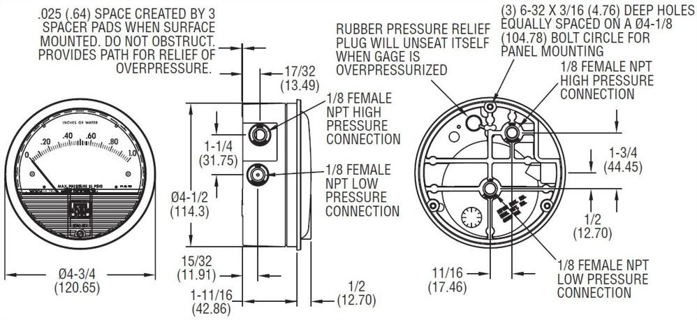 空氣差壓計 (台灣製)、工業用壓力錶供應商 - 昌揚科技有限公司