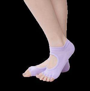 Women Anti Pilates Non Slip Five Finge Yoga Socks Half Anti-Slip