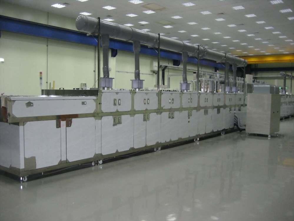 多槽連續隧道式噴洗機,高壓噴洗機,工業清洗設備