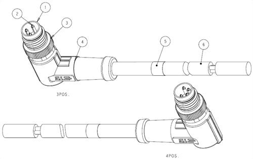 M8公接點90°3~4PIN帶線(RPC-M8-MR-3&4CON-PVC/PUR)(T40512X000X-00X)