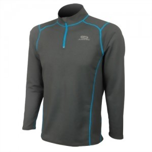 Printed Zip Quick-dry Thermal Long Sleeve Top For Man