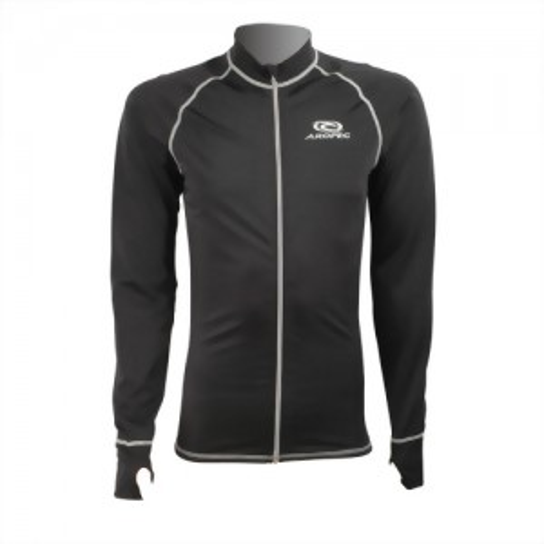 Lycra Long Sleeve Zipper Rash Guard for Man