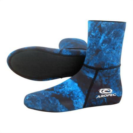 2mm Camo Blue Spearfish Sock
