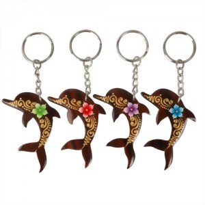 Dolphin Painted Keychain