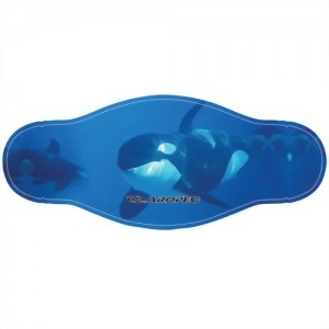 Two Layer 2mm Neoprene Mask Strap With Colorful Marine Animal Picture
