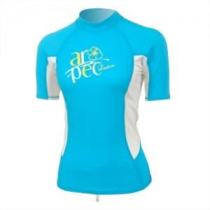 Lycra Short Sleeve Rash Guard for Lady SS-3K66W